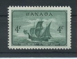 CANADA   1949   Entry  Of  Newfoundland  Into  Canadian  Confederation      MH - 1937-1952 Règne De George VI