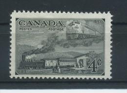 CANADA   1951   Canadian  Stamp  Centenary     4c  Black      MH - 1937-1952 Règne De George VI