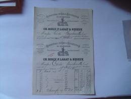 Facture  Lot 2  Bordeaux  Au Colporteur Bonneterie Birly Labat Neveux - France
