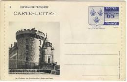 LBL30 - FRANCE CARTE LETTRE ARMOIRIES DE L'ÎLE DE FRANCE  NOIR SUR CARTON BLANC N°10 - Entiers Postaux
