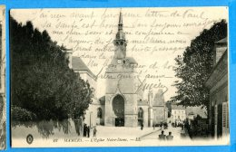 LIPP913, Mamers, L'église , Animée, 22,  Circulée 1916 Sous Enveloppe - Mamers