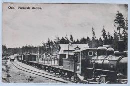 FURUDALS (Suède) Plan TOP Sur Une Locomotive En Gare - Zweden