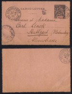 INDOCHINE - SAIGON PORT / 1895 ENTIER POSTAL POUR L ALLEMAGNE (ref 7051) - Briefe U. Dokumente