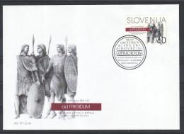 D32 Slowenien Slovenia Slovenie 1994 Mi.No. 92 FDC Schlacht Battle Of The Frigido Krieger Warrior - Slowenien