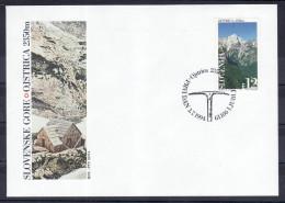 D32 Slowenien Slovenia Slovenie 1994 Mi.No. 88 FDC Alps Alpe Ojstrica 2350m Berge Mountains - Slowenien