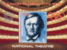 1069 ✅ Sport Olympic Games Music Composers Wagner 1972 Yemen AR S/s MNH ** 12ME - Winter 1968: Grenoble