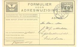 Verhuiskaart G12 VOORBURG -EINDHOVEN - Postal Stationery