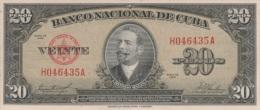 (7051) CUBA, 1958. 20 Pesos. P-80b. UNC