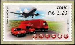 ISRAEL 2015 - New ATM Machines - Postal Vehicles - Airplane - Tel Aviv ATM # 450 Label - MNH - ATM - Frama (viñetas)