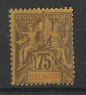 REUNION - YVERT N° 43 * - COTE = 71 EUROS - TYPE GROUPE - Réunion (1852-1975)