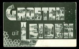 LEIDEN * GROETEN UIT LEIDEN * ANSICHTKAART * POSTCARD * CPA * GELOPEN IN 1905 NAAR BEVERWIJK * Nvph 51 (3656d) - Leiden