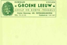 PETEGEM DEINZE / CYCLES - VELOS Cycles GROENE LEEUW Adolphe De Kimpe - Deinze
