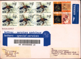 NOBEL LAUREATE-MOTHER TERESA-BOSE-PERSONALISED STAMP-BIRDS-SRI LANKA REGISTERED CVR-SCARCE-FC-67-29 - Mother Teresa