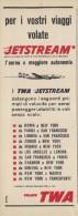 # TWA 1950s Italy Advert Pubblicità Publicitè Publicidad Reklame New York America Airlines Airways Aviation Airplane - Advertisements
