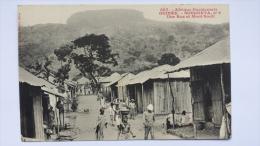 GUINEE Afrique SOUGUETA 2 Une RUE Et MONT SOUTI Village CPA Animee Postcard - Guinea