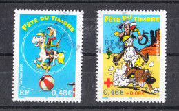 Francia    -    2003.  For  Red Cross. Lucky Luke  Cartoon Characters. Day Of Philately.  Complete Fine Set - Fumetti