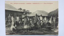 GUINEE Afrique SOUGUETA Place Principale 6 Village CPA Animee Postcard - Guinea