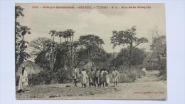 GUINEE Afrique TIMBO Rue De La MOSQUEE 2 Homme Enfant CPA Animee Postcard - Guinea