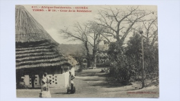 GUINEE Afrique TIMBO Cours De La RESIDENCE Village Femme Femmes CPA Animee Postcard - Guinée