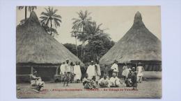 GUINEE Afrique AU VILLAGE DE TABOUNA Occidentale 661 CPA Animee Postcard - Guinée