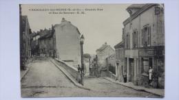CARRIERES SUR SEINE 78 Grande Rue Et Rue De BEZONS E M Yvelines CPA Animee Postcard - Carrières-sur-Seine
