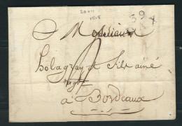 FRANCE 1818  Marque Postale Taxée  De Dax - Marcophilie (Lettres)