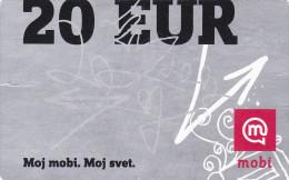 SLOVENIA Mobitel  Moj Mobi 20 EUR 31/12/2013 Paper Mobil Prepaid Phonecard - Slovénie