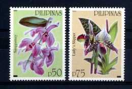 Filippine Philippine Philippinen Pilipinas 2003 Orchids - 19th Century European Old Print, 50p, 75p - MNH** (see Photo) - Filippijnen