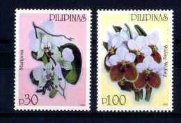 Filippine Philippines Philippinen Pilipinas 2003 Orchids - 19th Century European Old Print 30p, 100p - MNH** (see Photo) - Filippijnen