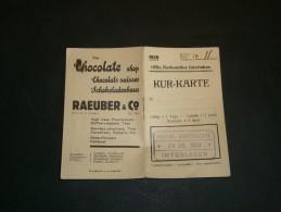 KUR-KARTE - 1939 - HOTEL EINTRACHT 24/7/39 - Vieux Papiers