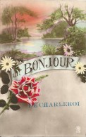 Un Bonjour De CHARLEROI - Cachet De La Poste 1921 - Charleroi