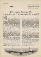 # CONVAIR 1950s Italy Advert Pub TWA DELTA SWISSAIR AMERICAN Airlines Airways Aviation Airplane - Advertisements