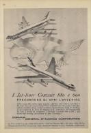 # CONVAIR 1950s Italy Advert Pub TWA DELTA SWISSAIR AMERICAN Airlines Airways Aviation Airplane - Publicités