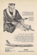 # CONVAIR 1950s Italy Advert Pub TWA DELTA SWISSAIR AMERICAN Airlines Airways Aviation Airplane King Mida - Publicités