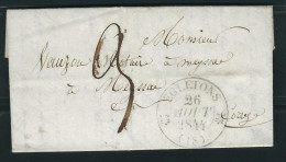 FRANCE 1844 Marque Postale Taxée Egletons - 1801-1848: Vorläufer XIX