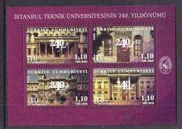 TURKEY TURQUEI 2013 MINIATURE SHEET. 240TH ANNIVERSARY OF ISTANBUL TECHNICAL UNIVERSITY - 1921-... República