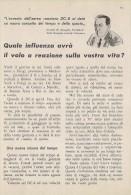 # DC DOUGLAS 1950s Italy Advert Publicitè Publicidad Reklame Airlines Airways Aviation Airplane - Publicités