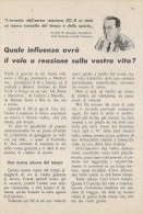 # DC DOUGLAS 1950s Italy Advert Publicitè Publicidad Reklame Airlines Airways Aviation Airplane - Advertisements