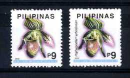 Filippine Philippines Philippinen Pilipinas 2003 Orchids 9p, Singles,1st And 2nd Printing (redrawn) - MNH** (see Photo) - Filippijnen