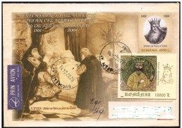 Romania/Roumanie: Intero, Stationery, Entier, Stefan Cel Mare, Stefano Il Grande, 2 Scan - Koniklijke Families