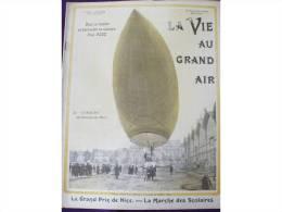 1903 AERONAT LEBAUDY / DE CALAIS A DOUVRES DERRIERE UN CERF VOLANT / MOTOCYCLE CLUB / LA VIE AU GRAND AIR - Newspapers