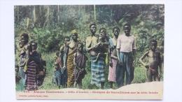 COTE D'IVOIRE Afrique GROUPE De TRAVAILLEURS Sur La VOIE FERREE CPA Animee Postcard - Ivory Coast