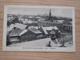 AK 052 – Mitau – Kurland – Jelgava – Lettland – Vom östlichen Kriegsschauplatz – Totalblick Beschrieben 1916 – Im Winter - Lettland