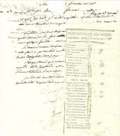 13 Frimaire An 10 - Marseille - PRIX-COURANT Des BLEDS Avec Lettre D'accompagnement - Documents Historiques