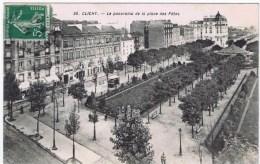 Cpa  CLICHYle Panorama De La Place Des Fetes - Clichy