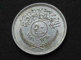 IRAQ -50 Fils 1959 - Silver **** EN ACHAT IMMEDIAT **** - Iraq