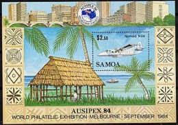Samoa 1984 Yvertn° Bloc 33 *** MNH Cote 8,00 Euro Avions Vliegtuigen - Samoa