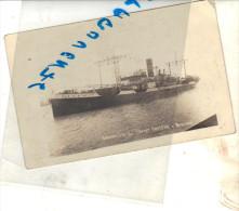 """Carte Photo Bateau Identifié """"Saint Prosper """" A Bordeaux  S.N.O France Construit En 1930 West Hartlepool - Commerce"""