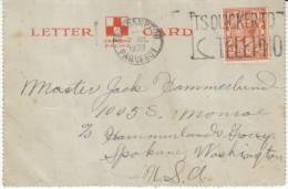 Canadian Pacific Steamship, 'Empress Of Britain'  Southampton Paquebot Postmark, C1930s Vintage Letter Card - Paquebots