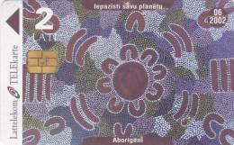 LATVIA  Phonecard With Chip  Aborigeni 6/2002 - Latvia